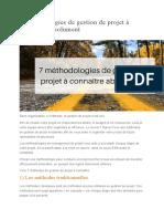 7 méthodologies de gestion de projet à connaître absolument.doc