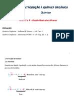 Aulas 03-04-Reatividade de Alcanos