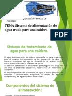 SISTEMAS DE ALIMENTACIÓN DE AGUA CRUDA