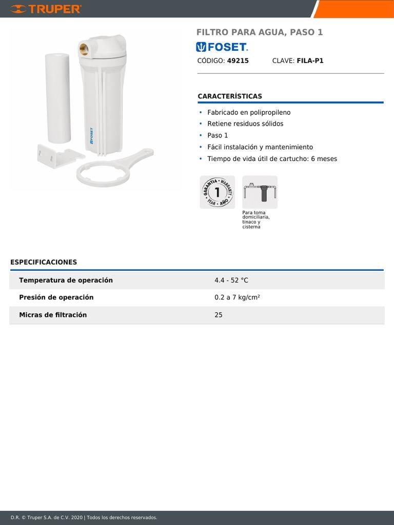 N//A//a Filtro de Agua Personal de Gran Capacidad 1000L Bomba de purificaci/ón de Agua port/átil Actividades al Aire Libre Equipo purificador de filtraci/ón de