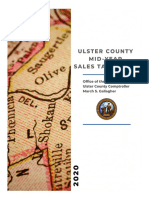 Ulster County Mid-Year Sales Tax Report, 2020