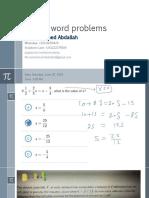 Linear Equation Word 2