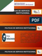 POLTICAS DE SERVICIO INSTITUCIONAL