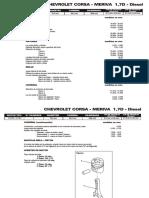 CHEVROLET CORSA - MERIVA 1,7D - Diesel