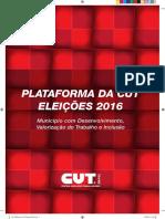 Plataforma da CUT para as Eleições Municipais (2016)
