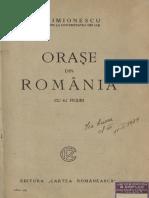 Orașe din România (1929) - I. Simionescu