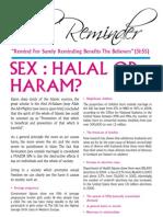Sex Halaal or Haram