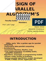 DESIGN OF PARALLEL ALGORITHM'S