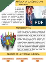PERSONAS JURIDICAS INSCRITAS Y NO INSCRITAS EXPOSICION