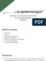 ¿Qué es la epidemiología_