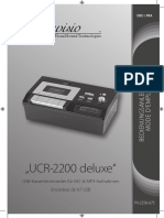 PX-2257 USB-Kassettenrecorder manual- GERMAN and FRENCH