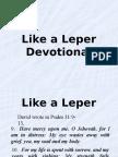 Like a Leper (Devotional)
