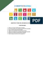 Cuestionario Objetivos y finrs del DS.