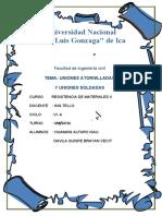 UNION ATORNILLADAS- RESISTENCIA DE MATERIALES