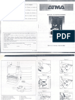 Manual cafetera ATMA CA830