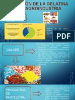 Aplicación de la gelatina en la agroindustria
