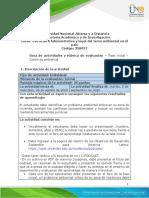 Guia de actividades y Rubrica de evaluacion - Fase inicial - Contexto ambiental
