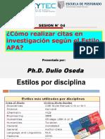 SESION N° 07 - COMO REALIZAR CITAS EN INVESTIGACIONES SEGUN EL ESTILO APA.ppt
