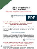 Sesión Viii Deuda Exigible en El Procedimiento de Cobranza Coactiva Seguido Por Municipali