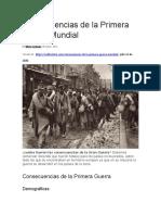 Consecuencias de la Primera Guerra Mundial NOVENO