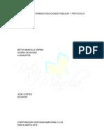 GLOSARIO DE E TERMINOS RELACIONES PUBLICAS Y PROTOCOLO