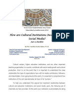 How Are Cultural Institutions Incorporating Social Media?