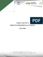 ANEXO - SERVICIO DE SOPORTE PROFESIONAL EN SITIO