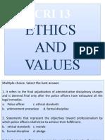 CRI 13 - ETHICS & VALUES