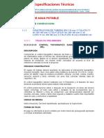 Especificaciones Tecnicas de Adicional Agua y Desague h