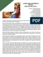 CARTA NATAL GRUPOS DE EVANGELIZAÇÃO