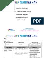 Malla Curricular de Matematica - Séptimo Grado por Unidad y Ejes transversales (Ajustada)