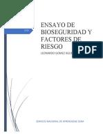 ENSAYO BIOSEGURIDAD Y FACTORES DE RIESGO