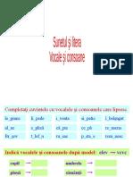 Vocale și consoane exerciții
