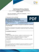 Guía de actividades y Rúbrica de evaluación - Tarea  1 - Reconocimiento del curso.