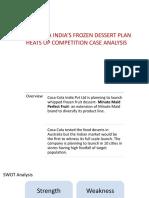Case Analysis Coke Dessert