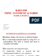 SLIDE 4 SYNTHETIC & FABRIC PART-1