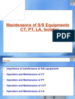 Opeartion & Maintenance of SS equipments CT PT CVT LA ISO 29.6.2020