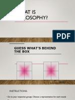 Defining Philosophy