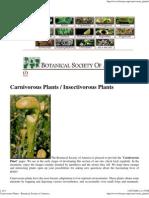 Carnivorous Plants - Botanical Society of America