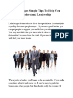 Leda Borges Simple Tips to Help You Understand Leadership