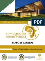 Rapport général 31e Congrés