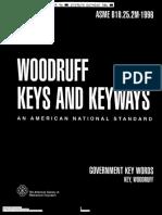 ASME B18.25.2M-1996 Woodruff Keys and Keyways
