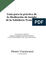 Guía para la práctica de meditación TWIM. trad. xiaofeng