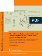 (TransÜD 74.) Ralph Krüger - The interface between scientific and technical translation studies and cognitive linguistics _ with particular emphasis on explicitation and implicitation as indicators o