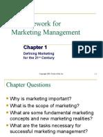 Framework to Marketing Management chapt 1.ppt
