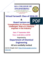 Invitation for Farewell and Guest Lecture