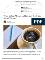 What Coffee, Alcohol and Jazz Can Teach You About Yourself