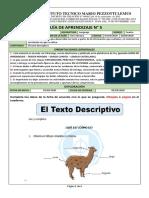 FORMATO DE APRENDIZAJE LENGUA CASTELLANA 4° - GUIA 5