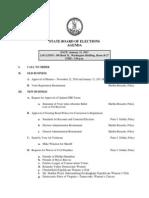 Virginia State Board of Elections' Jan. 31, 2011 agenda