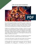 Avengers Infinity War(reseña)